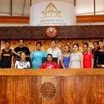 Le centre de formation Grand Angle en visite à l'assemblée de la Polynésie française