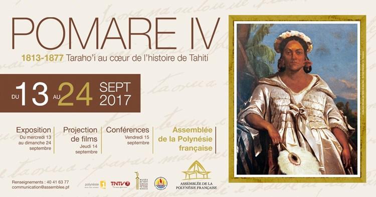 Marcel Tuihani inaugure l'évènement POMARE IV (1813 – 1877) Taraho'i au cœur de l'histoire de Tahiti