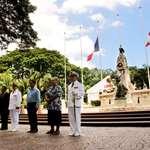 Hommage aux victimes des attentats de Carcassonne et de Trèbes à Pouvana'a a Oopa