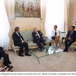 La délégation polynésienne en métropole rencontre M. Gérard Larcher, président du Sénat