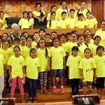 Le groupe scolaire de Moerai et Avera en visite à l'assemblée de la Polynésie française