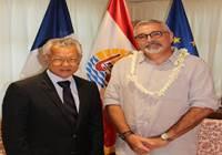 Le président de l'assemblée reçoit M. Jean-Jacques SAULNIER, Trésorier-payeur de la Polynésie française