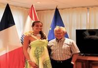 Vaimalama CHAVES, Miss Tahiti 2018, reçue par le président Gaston TONG SANG