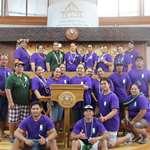 La Maison familiale rurale d'éducation et d'orientation de Huahine en visite à l'assemblée de la Polynésie française.