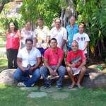 Huit stagiaires de la fédération « Te Niu o te Huma » en visite à l'assemblée de la Polynésie française