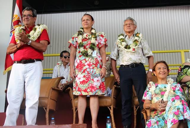 Le président Gaston TONG SANG participe à l'ouverture des Jeux de Polynésie française