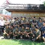 Des stagiaires du RSMA-Pf de Arue en visite à l'assemblée de la Polynésie française