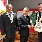 Son excellence Rami ADWAN, ambassadeur du Liban en France, reçu par le président de l'assemblée