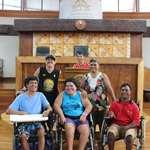 La fraternité chrétienne des handicapés de la Mission en visite à l'assemblée