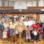 Les membres de l'Eglise Adventiste de Maeva en visite l'assemblée