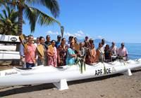 Bénédiction de la nouvelle pirogue de l'assemblée de la Polynésie française: To'erau