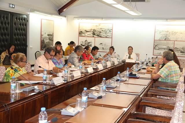 Dix-huit projets d'arrêté étudiés en commission de contrôle budgétaire et financier de l'assemblée de la Polynésie française