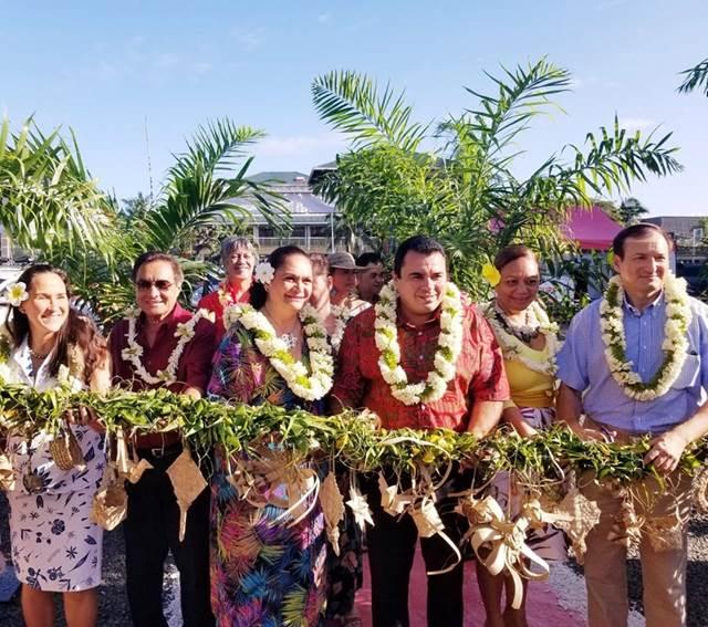 Ouverture du 23ème Salon du Tourisme en présence de la Vice-présidente de l'assemblée de la Polynésie française et de nombreux représentants