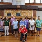 L'association Rima Here visite l'assemblée de la Polynésie française