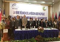 Philip SCHYLE, Vaitea LEGAYIC et Minarii GALENON participent à la 9ème réunion de la région Asie-Pacifique de l'Assemblée Parlementaire de la Francophonie au Laos