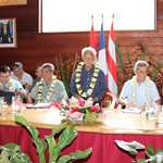 Réunions de concertation post covid 19 à Bora Bora