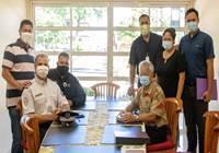 Signature d'une convention entre le Centre régional de formation de la Police nationale en Polynésie française  et l'assemblée de la Polynésie française