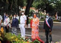 La 1ère vice-présidente de l'assemblée de la Polynésie française participe à la cérémonie  de commémoration des 50 ans de la mort du général de Gaulle