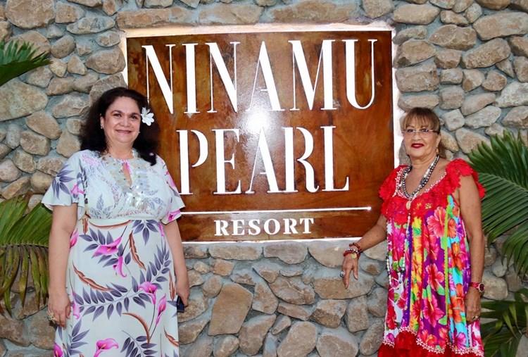 """Mme Yvannah POMARE TIXIER participe à l'inauguration des villas hôtelières """"Ninamu Pearl Resort"""""""