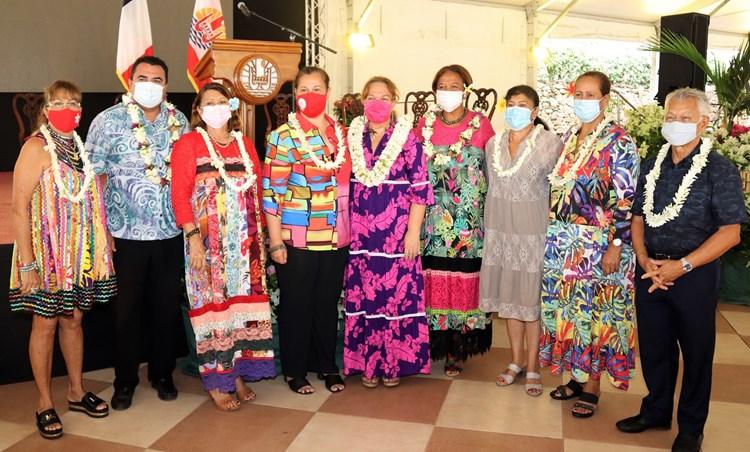Le Président Gaston TONG SANG présent à l'ouverture de la journée internationale des droits des femmes