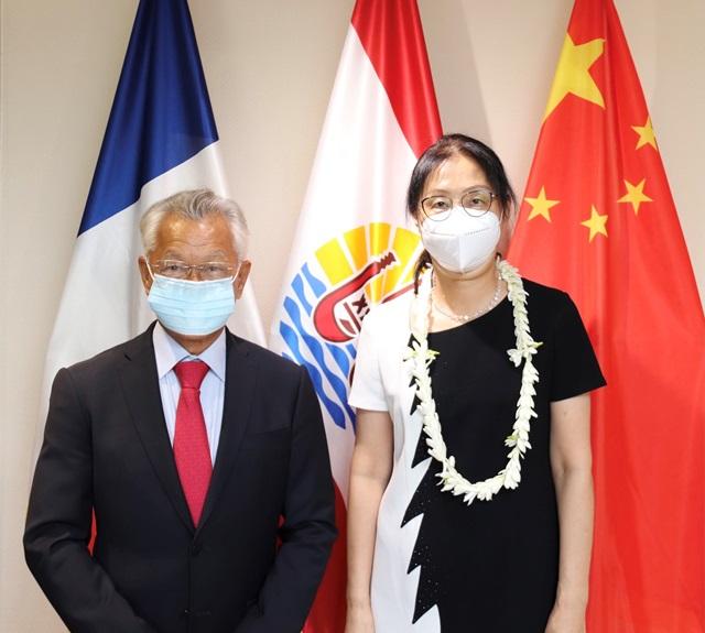 Le président de l'assemblée reçoit la consule générale de Chine, Mme DONG Qiang