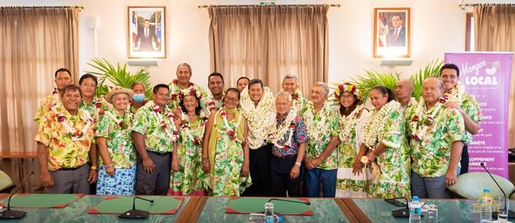 Élection du nouveau président de la Chambre de l'agriculture et de la pêche lagonaire en présence du président Gaston TONG SANG