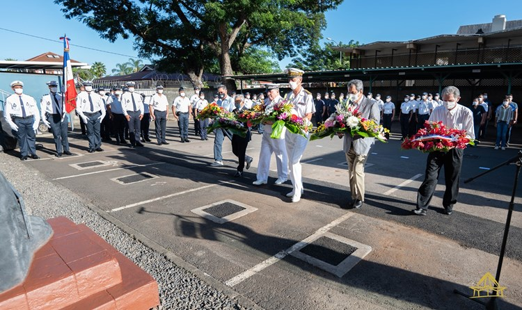 Le président de l'assemblée participe à la cérémonie en mémoire des policiers morts pour la France