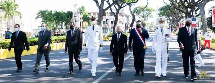 Le président de l'assemblée participe à la cérémonie du 14 juillet