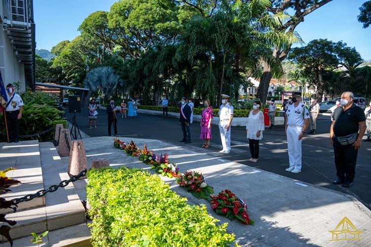 Mme Béatrice LUCAS participe à la commémoration du 81ème anniversaire du ralliement des EFO à la France libre